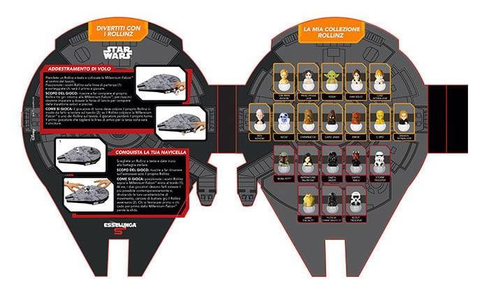 Astronave di carta Millenium Falcon