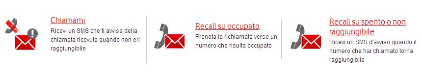 Chiamami e Recall di Vodafone
