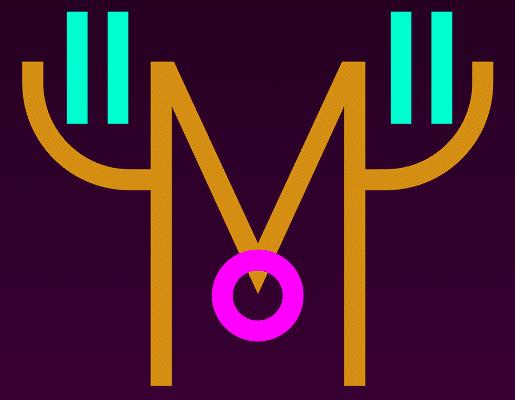 Logo M viola Mudec Milano