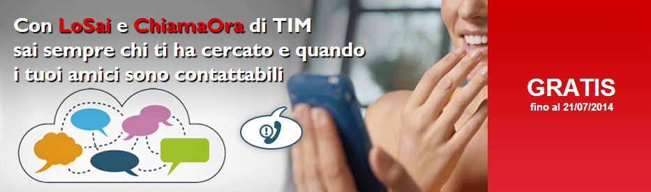 Lo Sai e Chiama Ora di Tim